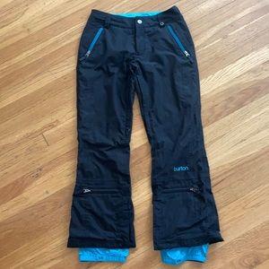Burton Dry Ride Snowboard Pants Black Womens XS
